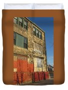Tree Shadow On Brick 4 Duvet Cover