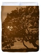 Tree Silhouettes Duvet Cover