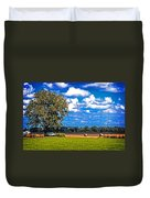 Tree Stands Alone- Vibrant Colors Duvet Cover