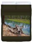 Tree Stump In Des Chutes Nf-or Duvet Cover