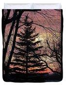 Tree Sunset Duvet Cover