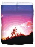 Tree Top Sunrise Duvet Cover