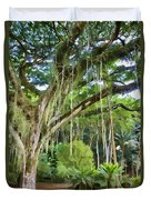 Tree-waimea Arboretum Duvet Cover