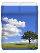 Tree With Clouds Duvet Cover