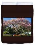 Tree With Pink Flowers Duvet Cover