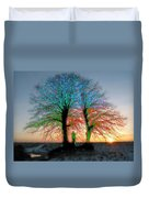 Trees Aglow Duvet Cover