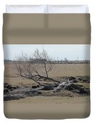 Trees And Early Spring Creek Duvet Cover