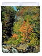 Trees And Falls Duvet Cover