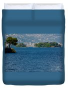 Trees And Islands Duvet Cover