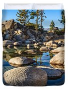 Trees And Rocks Duvet Cover