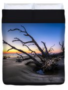 Trees At Driftwood Beach Duvet Cover