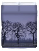 Trees At Night Duvet Cover