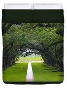 Trees At Oak Alley Plantation Duvet Cover