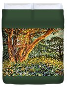 Trees At Sunset In Lafayette Park Duvet Cover