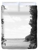 Trees At The Lakeside, Cave Point Duvet Cover