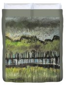 Trees By A Stream Duvet Cover