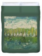 Trees By The River Duvet Cover