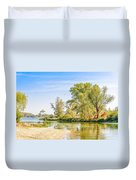 Trees Close To The River Duvet Cover