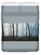 Trees During Autumn In Forest, Dupage Duvet Cover