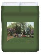 St. Louis Botanical Garden Trees Duvet Cover