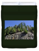 Trees Growing On The Edge Duvet Cover
