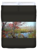 Trees In A Forest, Damariscotta Duvet Cover