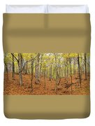 Trees In A Forest, Stephen A. Forbes Duvet Cover