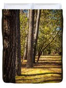Trees In A Park Duvet Cover