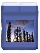 Trees In Silhouette Duvet Cover