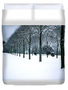 Trees In Snow Duvet Cover