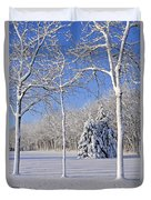 Trees In Snow  Wisconsin Duvet Cover by Anonymous