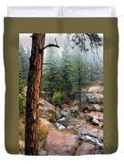 Trees In The Fog Duvet Cover
