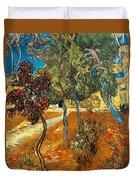 Trees In The Asylum Gardens Duvet Cover