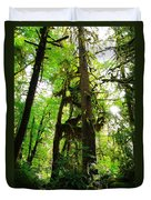 Trees In The Hoh National Rain Forest Duvet Cover