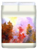 Trees In The Morning Duvet Cover