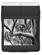 Trees In The Wind Duvet Cover