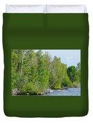 Trees On A Lakeshore Duvet Cover