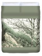Trees On A Mountain Duvet Cover