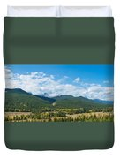 Trees On Canadian Rockies Along Route Duvet Cover