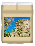 Trees On South Side Of Andreas Canyon In Indian Canyons-ca Duvet Cover