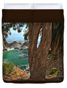 Trees Over Mcway Falls Duvet Cover