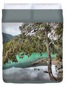 Trees Overhanging Cheakamus Lake Duvet Cover