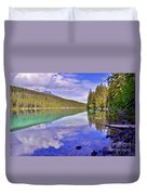 Trees Reflected At Valley Of The Five Lakes Duvet Cover