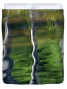 Trees Reflections On The River Duvet Cover