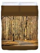 Trees Shadows Duvet Cover