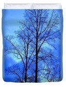 Trees So Tall In Winter Duvet Cover