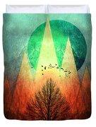Trees Under Magic Mountains I I Duvet Cover