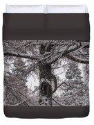 Trees Under Snow Duvet Cover