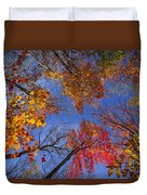 Treetops In Fall Forest Duvet Cover