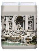 Trevi Fountain Duvet Cover